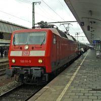 Münster HBF: BR 120 mit InterCity nach Hamburg, Мюнстер