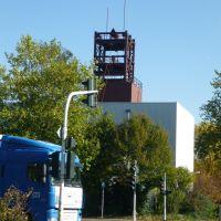 Blick auf die Befahrungseinrichtung des Schacht 2 der Zeche Concordia (Oberhausen-Lirich) / 21.10.2010, Оберхаузен