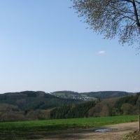 Nähe Bruchen, Blick ins Bergische Land, Рейн