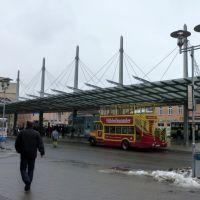 """Busbahnhof in Siegen mit """"Hübbelbummler"""", Зиген"""