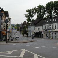Aplerbeck Mitte vor der Neugestaltung. Blick über die Köln-Berliner-Strasse in Richtung Marktplatz., Стендаль