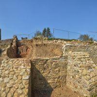 Panorama Burgruine Ringelstein während Sanierung, Харт