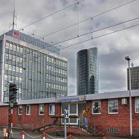 Skyscrapers from Dortmund Hbf. platform, Дортмунд