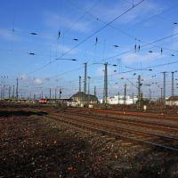 Gleisanlagen und Hauptbahnhof Hamm von leicht südwesten gesehen. Von der Bannigstrasse, Хамм