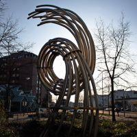 Skulptur vor dem Gebäude der Stadtwerke, Хамм