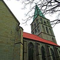 Die Pauluskirche von der Oststrasse, Хамм