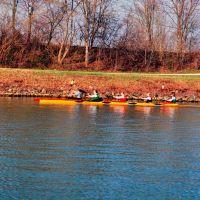 Training...Kanusport auf dem Kanal., Хамм