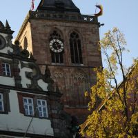 Bad Hersfeld, Blick zur Stadtkirche vom Markt, Бад Херсфельд
