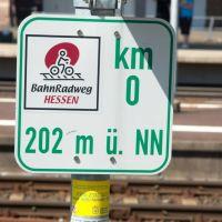 Kilometer Null des Bahnradweg Hessen, Бад Херсфельд