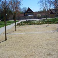 Bad Hersfeld, Kurpark, neuer Zugang-alte Wandelhalle, Бад Херсфельд