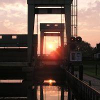 Germany, near Bremerhaven, Schleuse Geeste, Бремерхафен