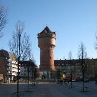 Bremerhaven - Geestemünde - Konrad-Adenauer-Platz / Wasserturm mit Cafe, Бремерхафен