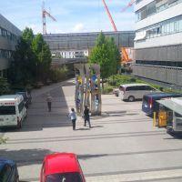 Eingang Hof des Klinikum Nordoberpfalz Weiden, Вайден