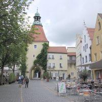 """Stadtansicht am Unteren Markt mit """"Unteres Tor"""" - Weiden i.d.OPf., n.N-O (i), Вайден"""