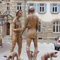 Die Schweinehändler im Kreisverkehr am Saumarkt, Вайсенбург