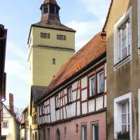 Weißenburg in Bayern - Blick zum Ellinger Torturm, Вайсенбург