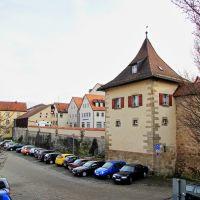 Weißenburg in Bayern - Parken im Schutz der Mauer, Вайсенбург