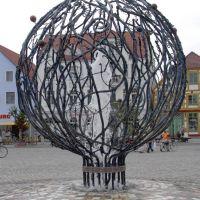 Kurioser Brunnen in Waren, Варен
