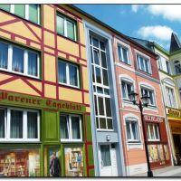 Waren - schöne Häuser in der Langen Straße, Варен
