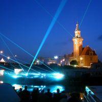 Dortmund Harbor - Altes Hafenamt - Laser Show, Дортмунд