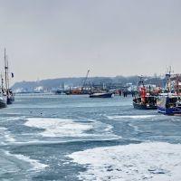 Fischereihafen im Winter - Sassnitz - Insel Rügen, Засниц