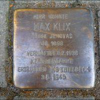 Stolperstein Köln, Max Klix, Кельн