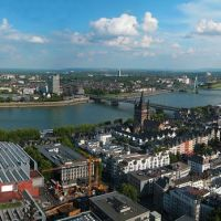 GER Koeln [Rhein] from Dom (Sued Turm) Panorama by KWOT, Кельн
