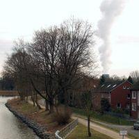 Dortmund-Emskanaal en kerncentrale in Lingen, Линген
