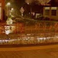 Panorama-Blick über den Theo Lingen Platz der Stadt Lingen (Ems) - Lingen bei Nacht vom 04.03.2012, Линген