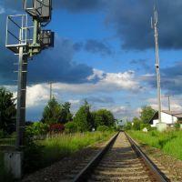 Bahnübergang in Mühldorf (13.06.2012,Mi), Мюльдорф