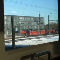 Oldenburg Central station, View out of the train window, Ольденбург