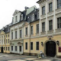 Plauen - Die denkmalgeschützten Häuser in der Nobelstr. 9, 11 und 13 beheimaten heute das Vogtlandmuseum Plauen, Плауен