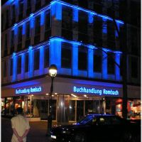 Freiburg centrum night, Фрайбург