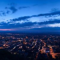 Freiburg during the blue hour from Observation tower on the Schlossberg, 21:35 ¦ pilago, Фрайбург