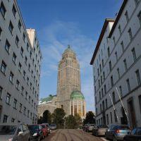 Kallion kirkko suonionkadulta, Хельсинки
