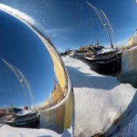 Hietalahdenallas seen in Spherical Mirror, Хельсинки