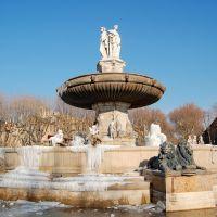 La Fontaine de la Rotonde (Février 2012), А-ен-Провенс