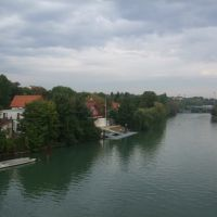 bord de la Marne vue du pont de Joinville, Сен-Мар-дес-Фоссе