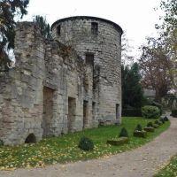 St Maur - Ruines de lancienne abbaye. Fondée en 639 et démolie en 1751, Сен-Мар-дес-Фоссе