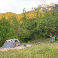 Les Trois Becs vanaf camping La Motte, Валенс
