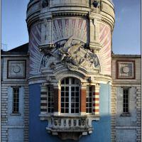 """NANTES [44] - Détail de la tour LU ( avant Lefèvre-Utile, maintenant """"Lieu Unique"""" ) décembre 2007, Нант"""