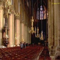 France. The interior of the Cathedral in Reims. Франция. Интерьер собора в Реймсе, Реймс