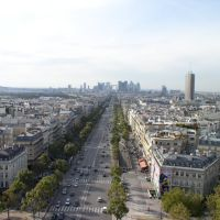 view from the top of the Arc de Triomphe, Paris, France / 2007, Левальлуи-Перре