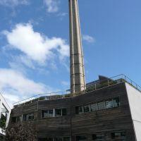 Cheminée de lancienne blanchisserie Robat, Нюилли-сюр-Сен