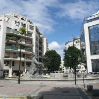 Boulogne-Billancourt - Place des Ailes, la fontaine Neptune, Руэль-Мальмасон
