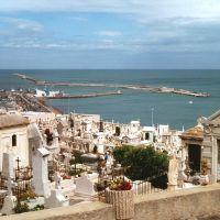 Le cimetière et le port de Sète., Сет