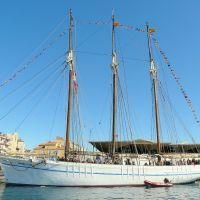 France, la Goélette Santa Eulalia de Barcelone un 3 mats au port de Sète, Сет