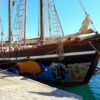 """France, la Goélette """"Bel Espoir"""", 3 Mâts de 40m (de lémission Thalassa) au port de Sète, Сет"""