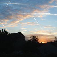 dans le ciel matinal vers Roissy Charles de Gaulle, Дранси