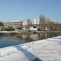 Canal de lourc hopital Jean Verdier  janvier 2009, Ле-Бланк-Меснил